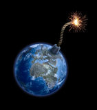 бомбите землю Стоковое Фото