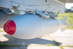 Бомбы авиации на воинском бомбардировщике Стоковое Фото