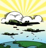 бомбы бомбардировщика падая воинские плоскости бесплатная иллюстрация