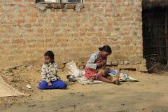 бомб Мать и ребенок Стоковая Фотография RF