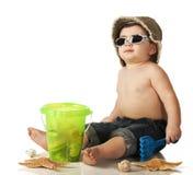 бомж пляжа младенца Стоковые Изображения