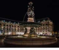 Бордо, Франция, 10 может 2018 - туристы посещая место de l стоковое изображение