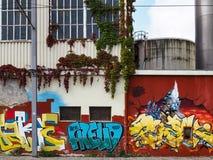 БОРДО, GIRONDE/FRANCE - 19-ОЕ СЕНТЯБРЯ: Граффити на стене внутри Стоковое Изображение RF