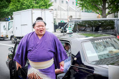 Борец Fujiazuma Kazuyoshi Sumo Стоковые Фотографии RF