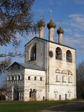 Борис и колокольня монастыря Gleb, Borisoglebsk, район Ростова, зона Yaroslavl, Россия Стоковое фото RF