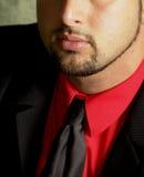 бородатая рубашка красного цвета ванты Стоковые Фотографии RF