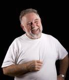 бородатый смеясь над человек старый Стоковые Изображения RF