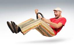 бородатый человек водителя автомобиля нереальный Стоковое Изображение
