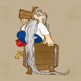 бородатый человек пива Стоковая Фотография RF