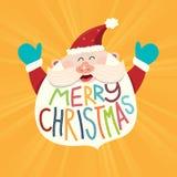 Борода Санта рождества иллюстрация вектора