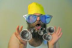 Бородатые бактерии рта человека Стоковое Изображение