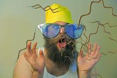Бородатые бактерии рта человека Стоковое Фото
