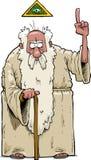 Бородатый бог иллюстрация вектора