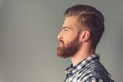 бородатый красивый человек стоковое фото