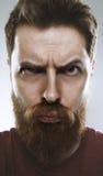 Бородатый мужчина делая смешную придурковатую сторону Стоковые Изображения RF