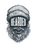 Бородатый - цитата битника и взгляд стороны Стоковая Фотография