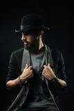 Бородатый человек в котелке Стоковое Фото