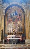 Бортовой алтар базилики St Peters в Ватикане Стоковые Фото
