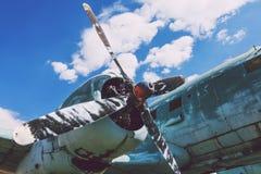 Бортовой двигатель пропеллера большого воздушного судна Стоковое Изображение