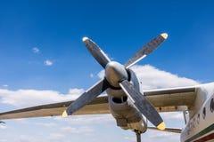 Бортовой двигатель пропеллера большого воздушного судна Стоковые Изображения