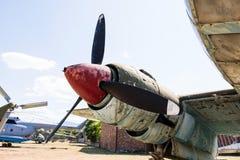 Бортовой двигатель пропеллера большого воздушного судна Стоковые Фотографии RF