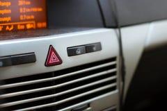 Бортовой компьютер автомобиля Кнопки сигнала тревоги и замка Стоковая Фотография RF