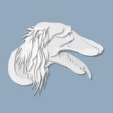 Бортовой портрет собаки Saluki в стиле отрезка бумаги Стоковые Изображения RF