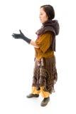 Бортовой профиль руки молодой женщины предлагая для рукопожатия Стоковое фото RF