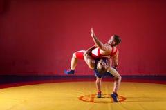 2 борца молодых человеков Стоковое Изображение