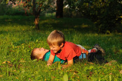 Борясь дети Стоковое фото RF