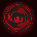 Бордо закручивает в спираль на черной предпосылке, абстракции Стоковая Фотография