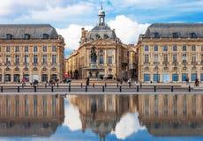 Бордо - Место de Ла Фондовая биржа Стоковое Изображение RF