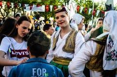Боснийские фольклорные танцоры на день ` s национального суверенитета и детей - Турция Стоковые Изображения RF