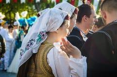 Боснийские фольклорные танцоры на день ` s национального суверенитета и детей - Турция Стоковая Фотография RF