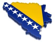 Босния и Герцеговина (включенный путь клиппирования) Иллюстрация штока