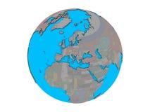 Босния и Герцеговина с флагом на изолированном глобусе бесплатная иллюстрация