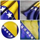 Босния и Герцеговина Flag Стоковые Изображения RF