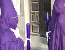 босоногая роба пурпура nazarene Стоковые Изображения RF