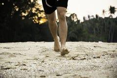 Босоногий человек Стоковые Фотографии RF