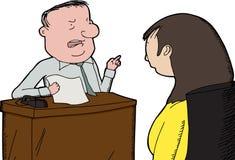 Босс выкрикивая на работнике Стоковое Фото