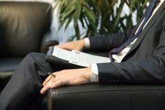 Босс или политик бизнесмена давая интервью Стоковые Изображения RF