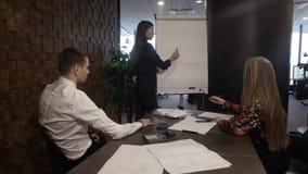 Босс рисует диаграмму акции видеоматериалы