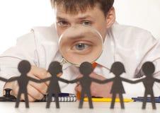 Босс смотрит людей стоковые фото