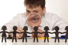 Босс смотрит людей стоковое изображение rf