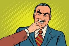 Босс сдерживает палец иллюстрация штока