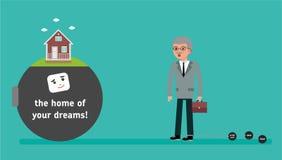 Босс с самой малой задолженностью хочет ипотечный кредит бесплатная иллюстрация