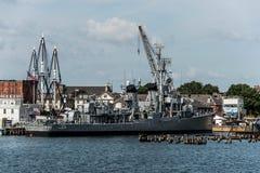 Бостон Массачусетс США 06 09 2017- Историческая достопримечательность соотечественника разорителя класса USS Cassin молодая Fletc Стоковое Изображение