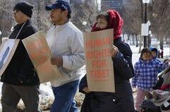 Права человека для Тибета Стоковое фото RF