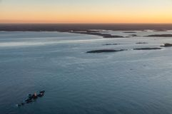 Бостон от воздуха стоковое фото
