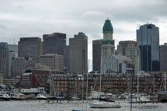 Бостон от гавани Стоковые Фотографии RF
